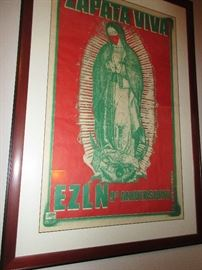 Vintage Zapatista Liberation Army Poster