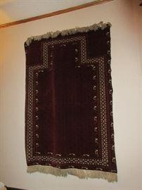 Vintage Persian Baluch  prayer rug