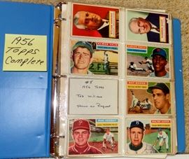 1956 TOPPS BASEBALL CARDS, COMPLETE, NO HIGH CARDS