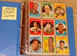 1959 TOPPS BASEBALL CARDS, COMPLETE, NO HIGH CARDS