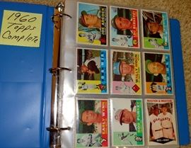 1960 TOPPS BASEBALL CARDS, COMPLETE, NO HIGH CARDS