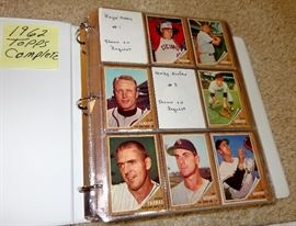 1962 TOPPS BASEBALL CARDS, COMPLETE, NO HIGH CARDS