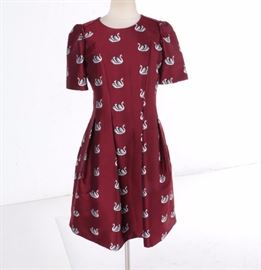 Cooper Bella Swan Jacquard Dress  https://www.ebth.com/items/7387804-cooper-bella-swan-jacquard-dress