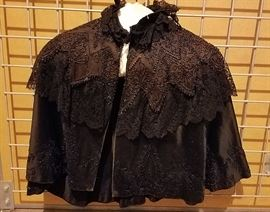 Vintage Victorian beaded morning cape