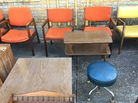 Many 50's 60's era furniture!