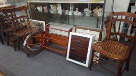 Items in front of display case and 2 bifold doors (20% off items inside case)
