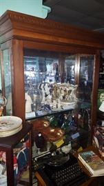 Lighted curio   (Items inside are 20% -50% off)