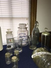 Horlicks Malted Milk Apothecary Jars and collectibles
