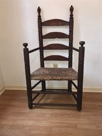 Late 1600s - early 1700s Pilgrim star-back chair