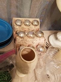 Mercury Knobs, Lenox Vase, Crystal Candlesticks
