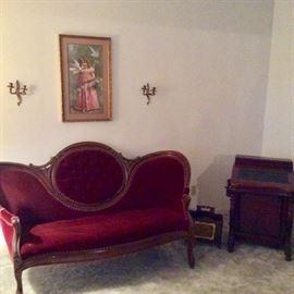 Victorian settee.