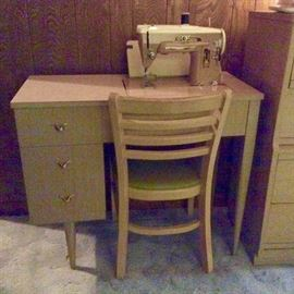 Mid Century Singer Sewing machine.