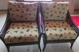 2 Bernhardt Woven Chairs
