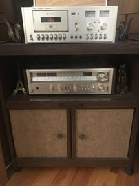 •	Vintage 70s Fisher Stereo w/ cassette player