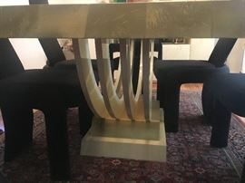 •	80s Designer Italian modern table with 6 chairs (From Pacific Design Center 1982)