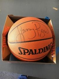 NBA Leather Spalding Basketball Autograph by Larry Bird, looks to be in good condition. Cosigner said that the ball was won at a Charity Auction.