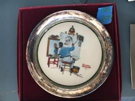 Petit Tray Norman Rockwell Self-Portrait from Gorham Collectors Society, with COA, still in box.