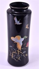 Lot 12: Black Japanese Vase