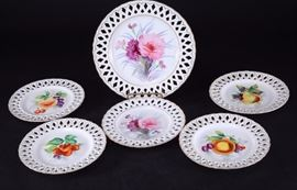 Lot 5: 	Occupied Japan Rossetti & AIYO Reticulated Plates