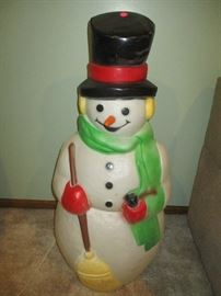 vintage snowman blow mold  (ATTACHED GARAGE)