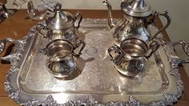 One of two plate tea sets