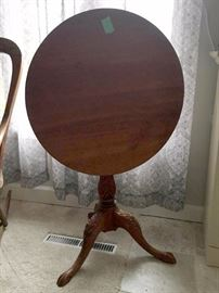 Vintage and antique accent tables