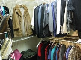 Some men's and woman's clothes and a few pairs of shoes. There is also some cool ties!