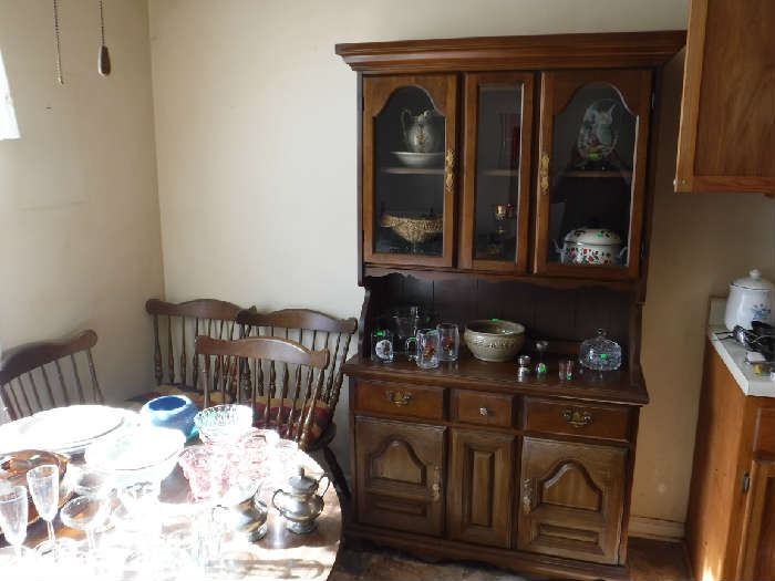 A perfect size small China Cabinet for your home.