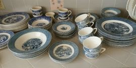 BLUE AND WHITE DISHES - VARIOUS PATTERNS