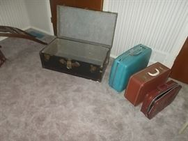 10vintage luggage and trunk