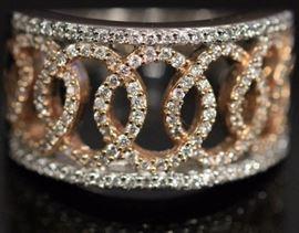9056 - LADY'S DIAMOND FANCY 14KT GOLD RING