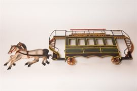Metal Wall Art Of Horses And Trolley