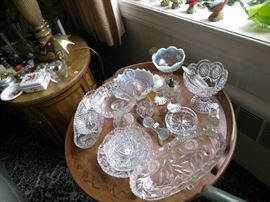 A sample of some of the fine Crystal and glassware
