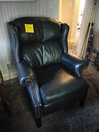 One of a pair of leather recliner by Barcalounger.....nice!