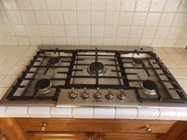stainless steel 5 burner gas cook top