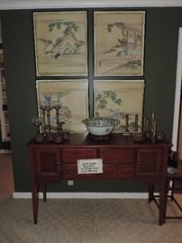 Chinese watercolor, sideboard and MORE!