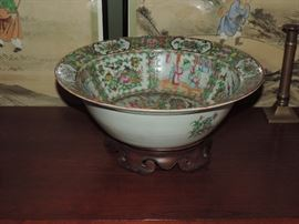 Rose Medallion Bowl - repaired