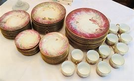 Rare 79 piece, mint condition, Daum Limoges Nature Collection. Stunning!!