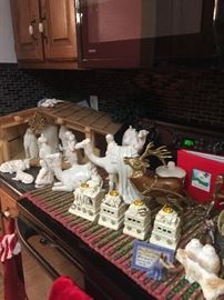 VERY NICE ceramic nativity set.