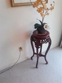 Carved fern stand
