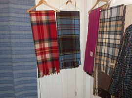MORE WOOL THROWS, AND SCARVES