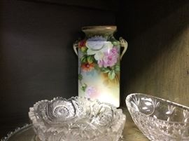 Hand painted vase...glassware