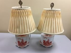 Vintage Porcelain Japanese Lamps