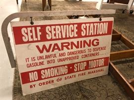 Double Sided Metal Gas Sign