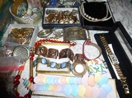 Lots of Old Costume Jewelry
