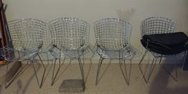 Set of four mcm ..Bertoia for Knoll wire chairs ...original