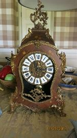 French marquetry clock