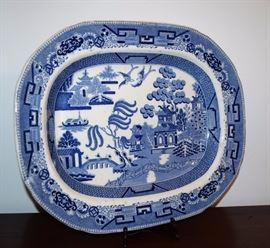 Blue Willow Platter; Phoenix Pattern - many other platters and pieces available, as well