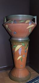 Roseville Jardiniere and Stand