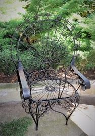 Peacock Chair; Wire, Vintage